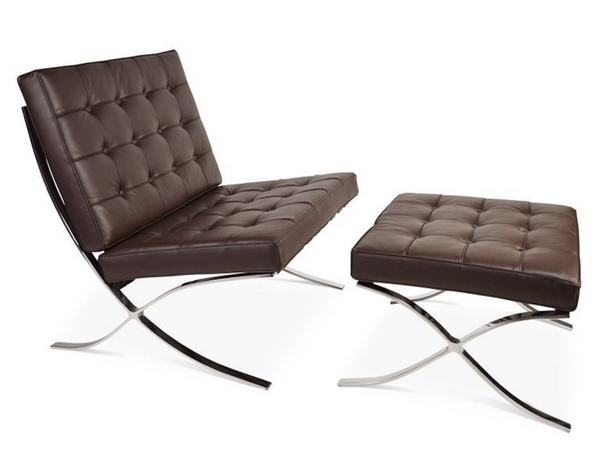 Barcelona chair and ottoman - Dark brown