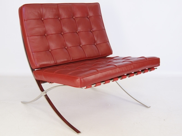 Barcelona chair - Dark red