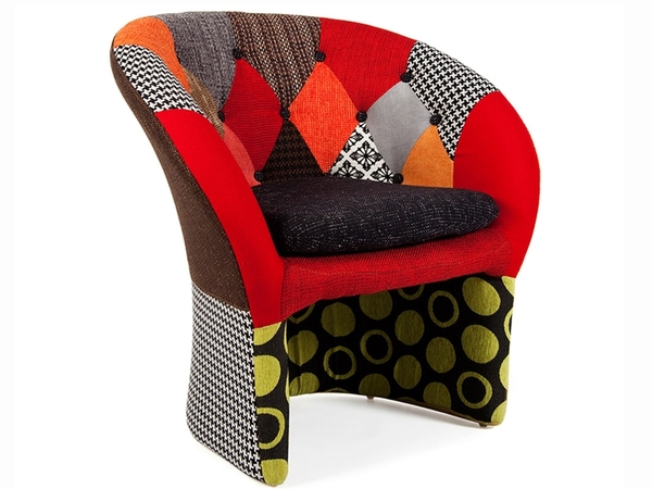 Bay Lounge armchair - Patchwork