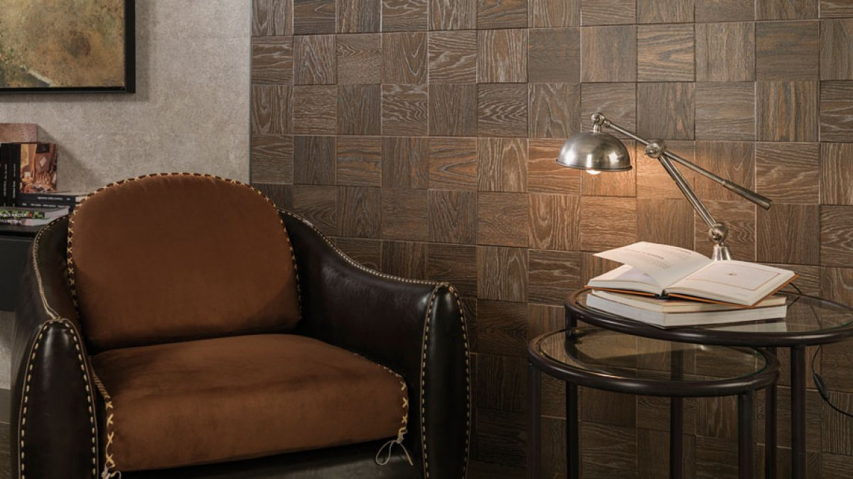 Ceramic textures imitating wood: both quality and warmth in design