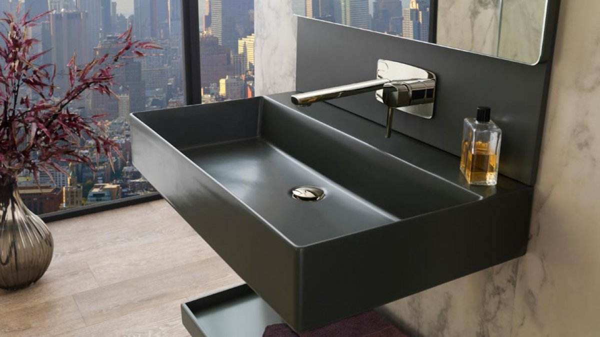 Cersaie 2015: pure and elegant bathrooms with Pure Line by Noken