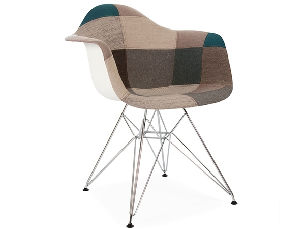 DAR chair padded - Blue patchwork