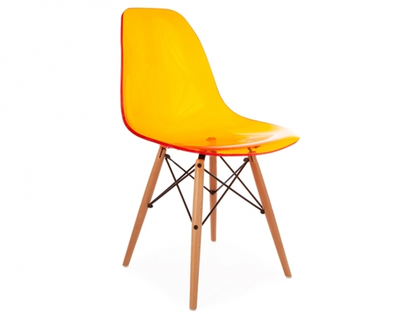 DSW chair - Clear orange