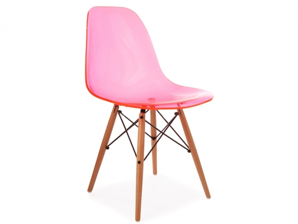 DSW chair - Clear pink