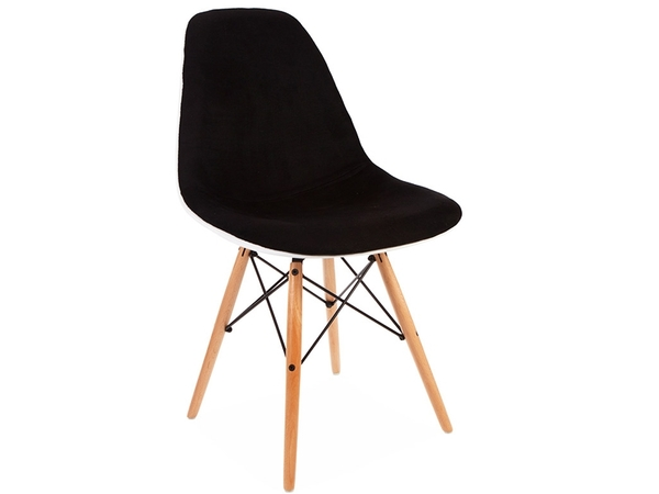 DSW chair wool padded - Black