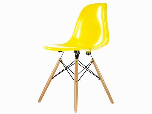 DSW chair - Yellow shiny