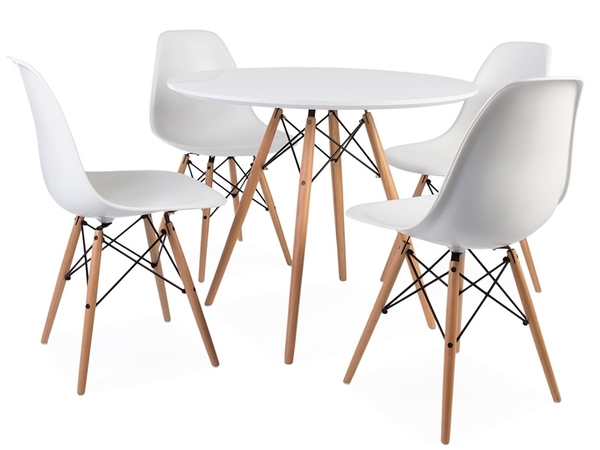 Eames table WDW and 4 chairs