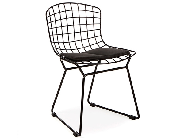 Kids Bertoia Wire Side Chair - Black