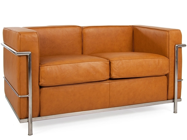 LC2 Le Corbusier 2 seater - Tan