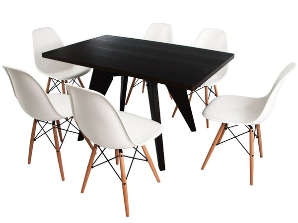 Prouvé table and 6 chairs
