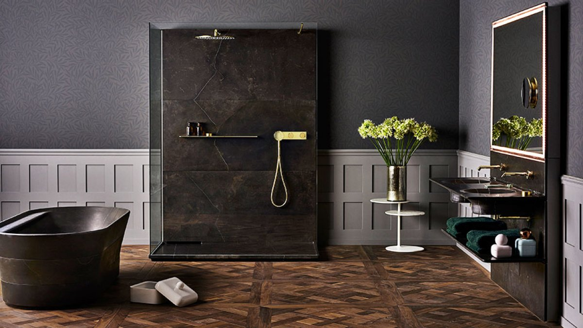 The genuine elegance of authenticness enters the bathroom