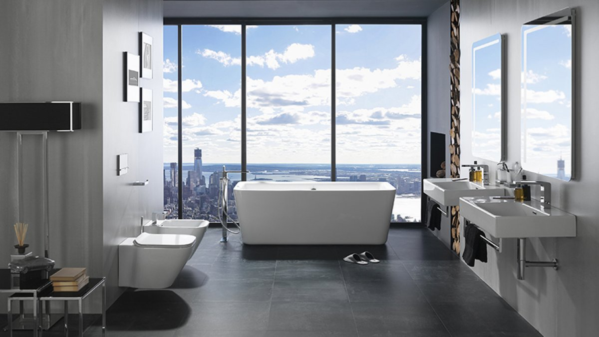Urban bathrooms: both minimalism and comfort in one interior design