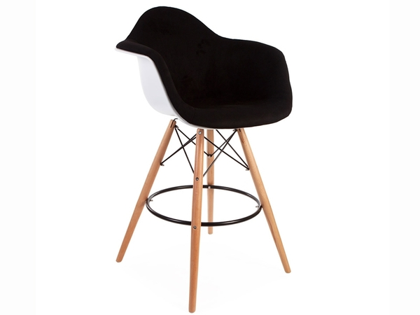 Wool padded DAB bar chair - Black